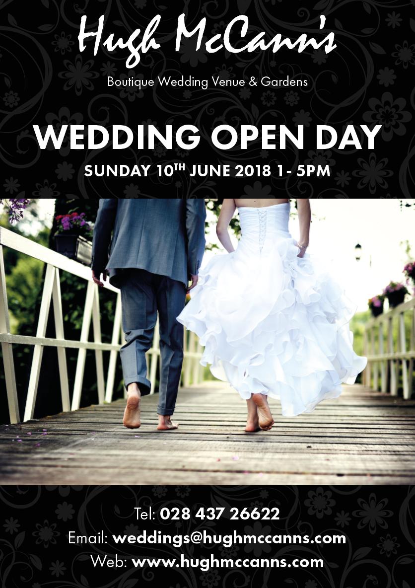 Hugh McCanns Wedding Flyer Open Day
