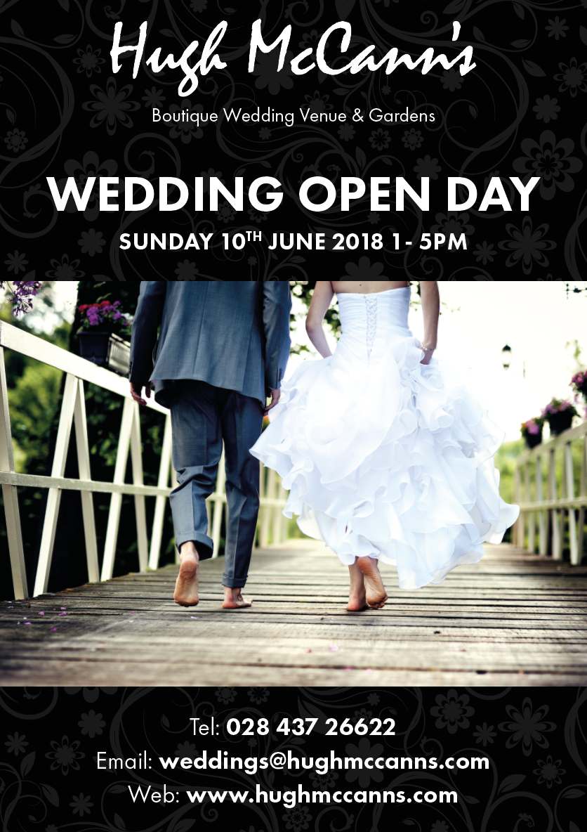 Hugh McCanns Wedding Flyer Open Day
